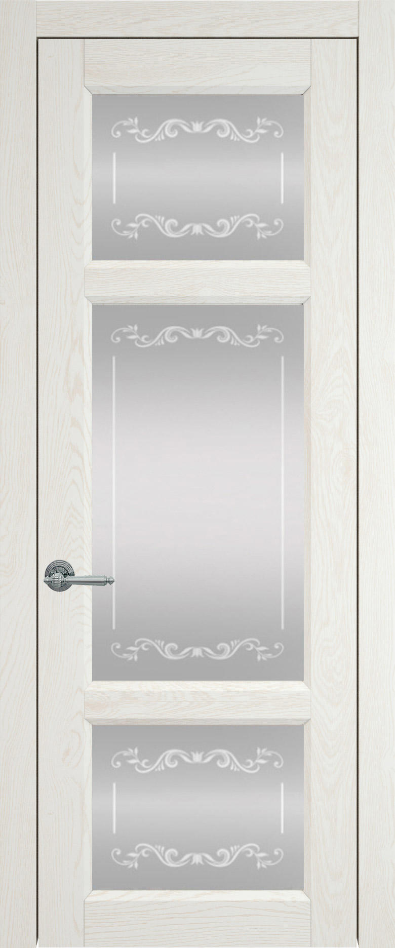 Siena цвет - Белый ясень (шпон) Со стеклом (ДО)