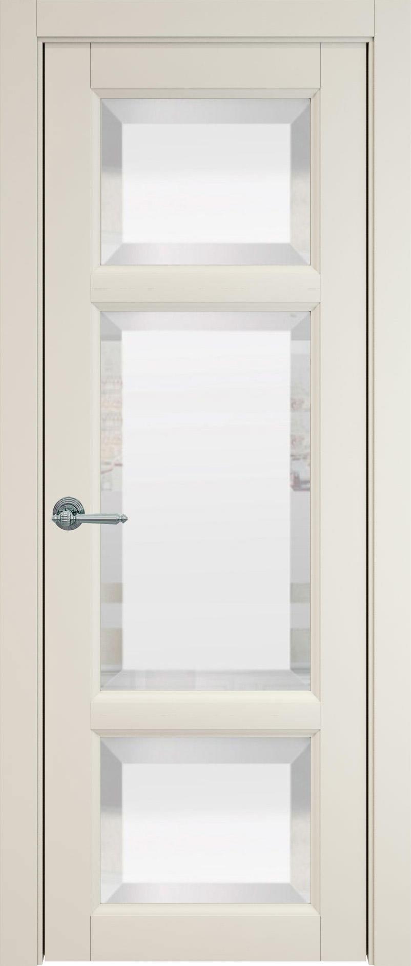 Siena цвет - Жемчужная эмаль (RAL 1013) Со стеклом (ДО)