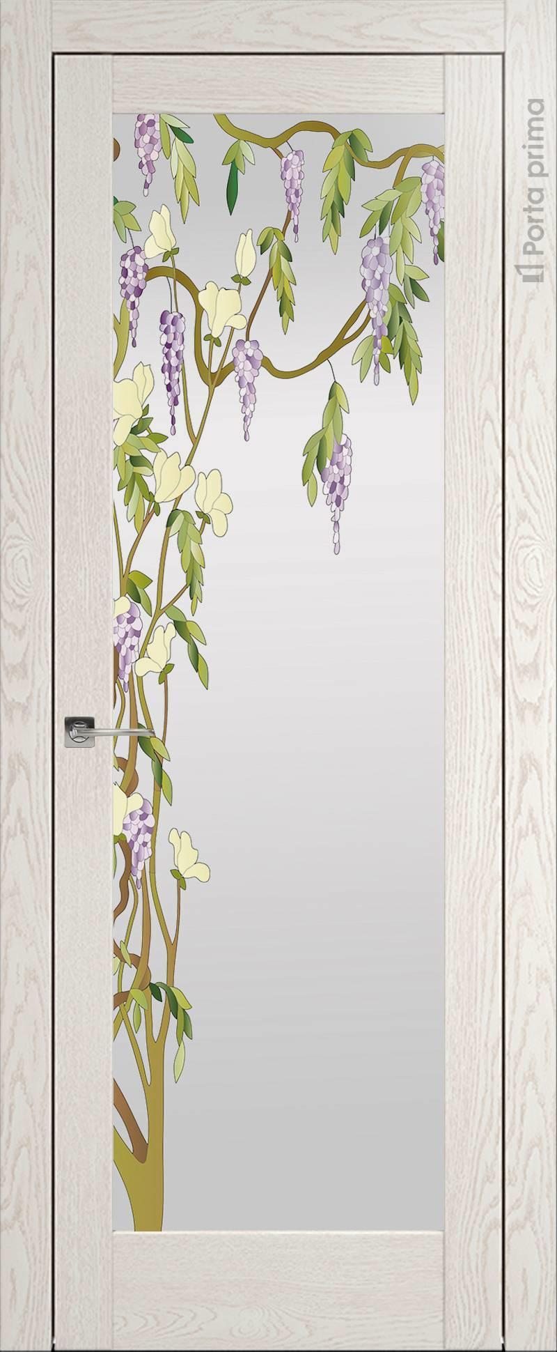 Strada цвет - Белый ясень (nano-flex) Со стеклом (ДО)