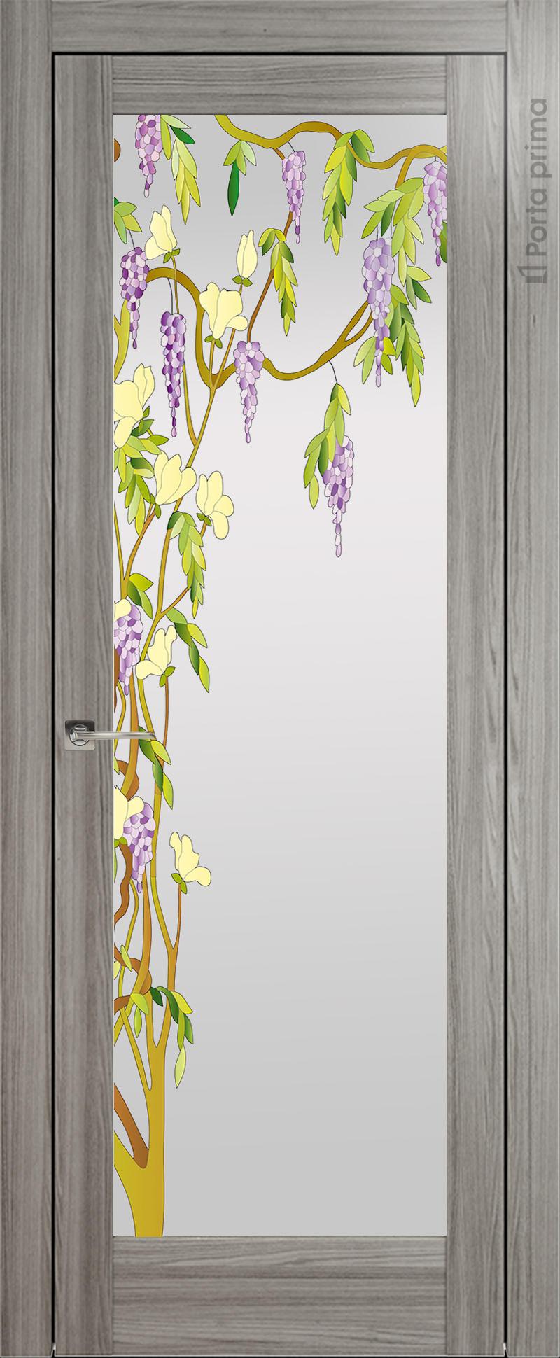 Strada цвет - Орех пепельный Со стеклом (ДО)