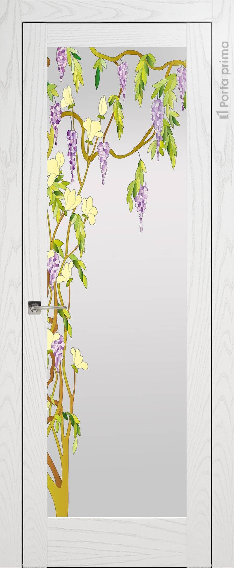 Strada цвет - Белый ясень (шпон) Со стеклом (ДО)