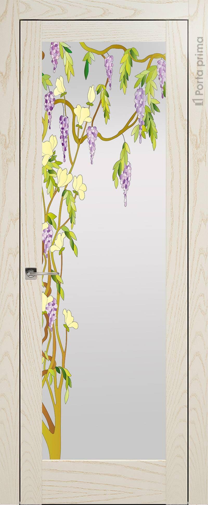 Strada цвет - Бежевый ясень Со стеклом (ДО)