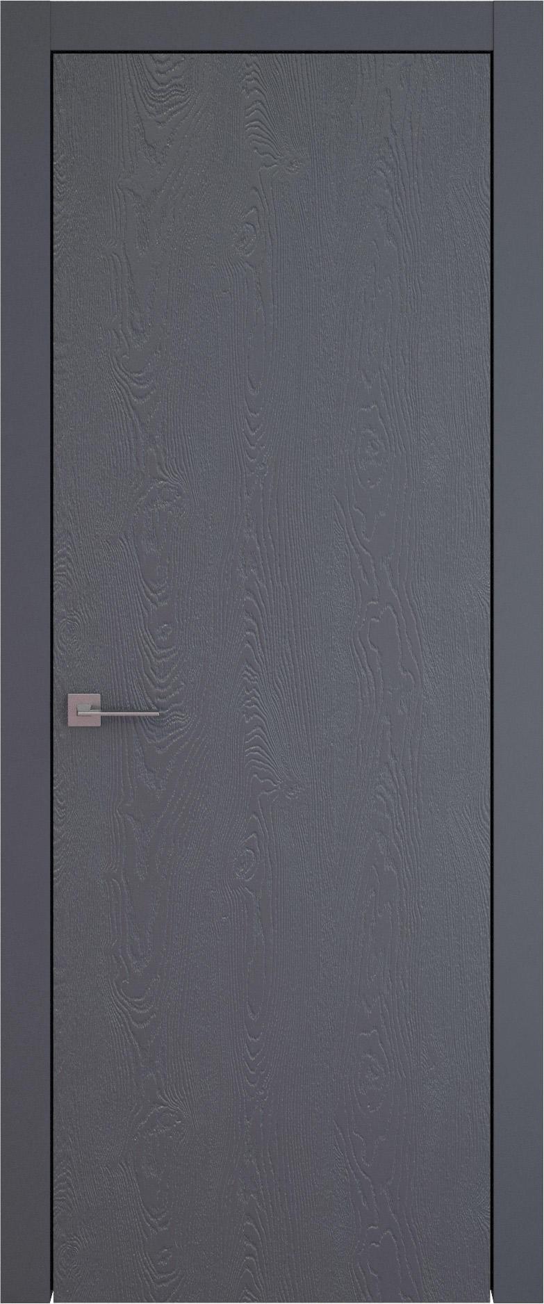 Tivoli А-1 цвет - Графитово-серая эмаль по шпону (RAL 7024) Без стекла (ДГ)