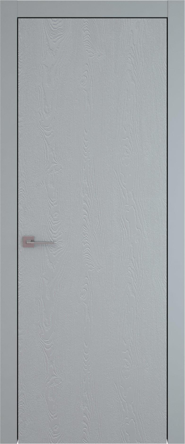 Tivoli А-1 цвет - Серебристо-серая эмаль по шпону (RAL 7045) Без стекла (ДГ)