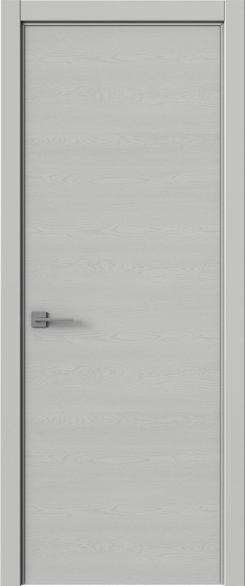 Tivoli А-2 цвет - Серая эмаль по шпону (RAL 7047) Без стекла (ДГ)