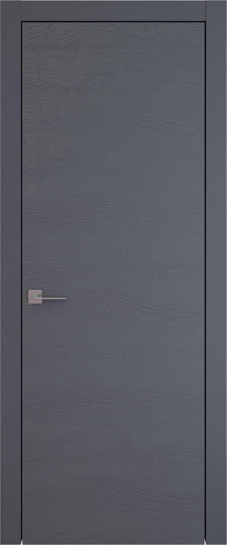 Tivoli А-5 цвет - Графитово-серая эмаль по шпону (RAL 7024) Без стекла (ДГ)
