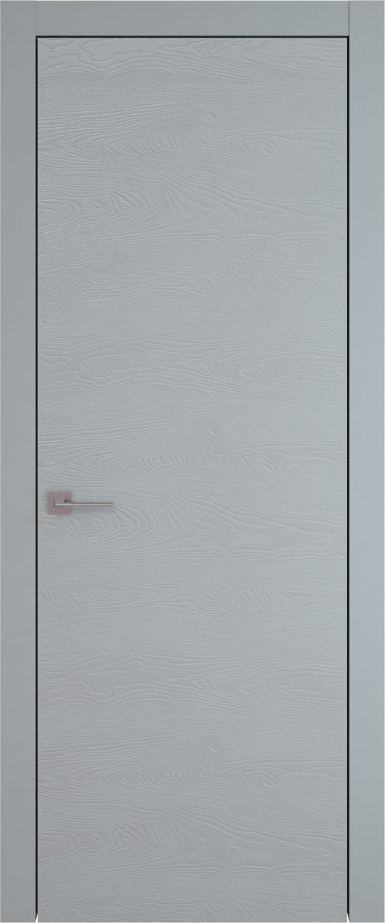 Tivoli А-5 цвет - Серебристо-серая эмаль по шпону (RAL 7045) Без стекла (ДГ)