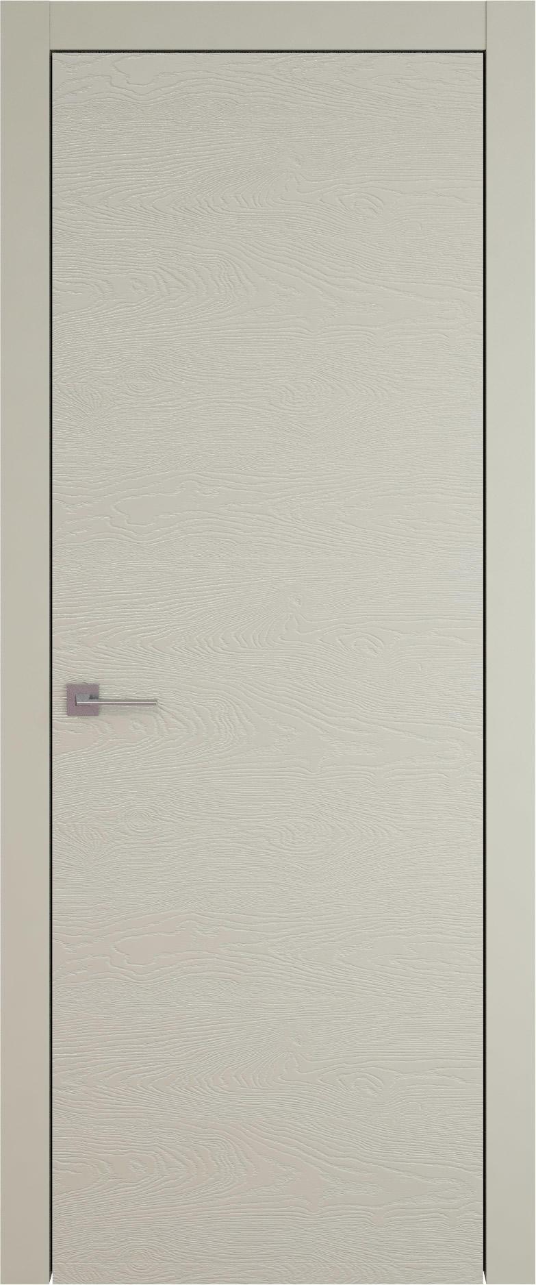 Tivoli А-5 цвет - Серо-оливковая эмаль по шпону (RAL 7032) Без стекла (ДГ)