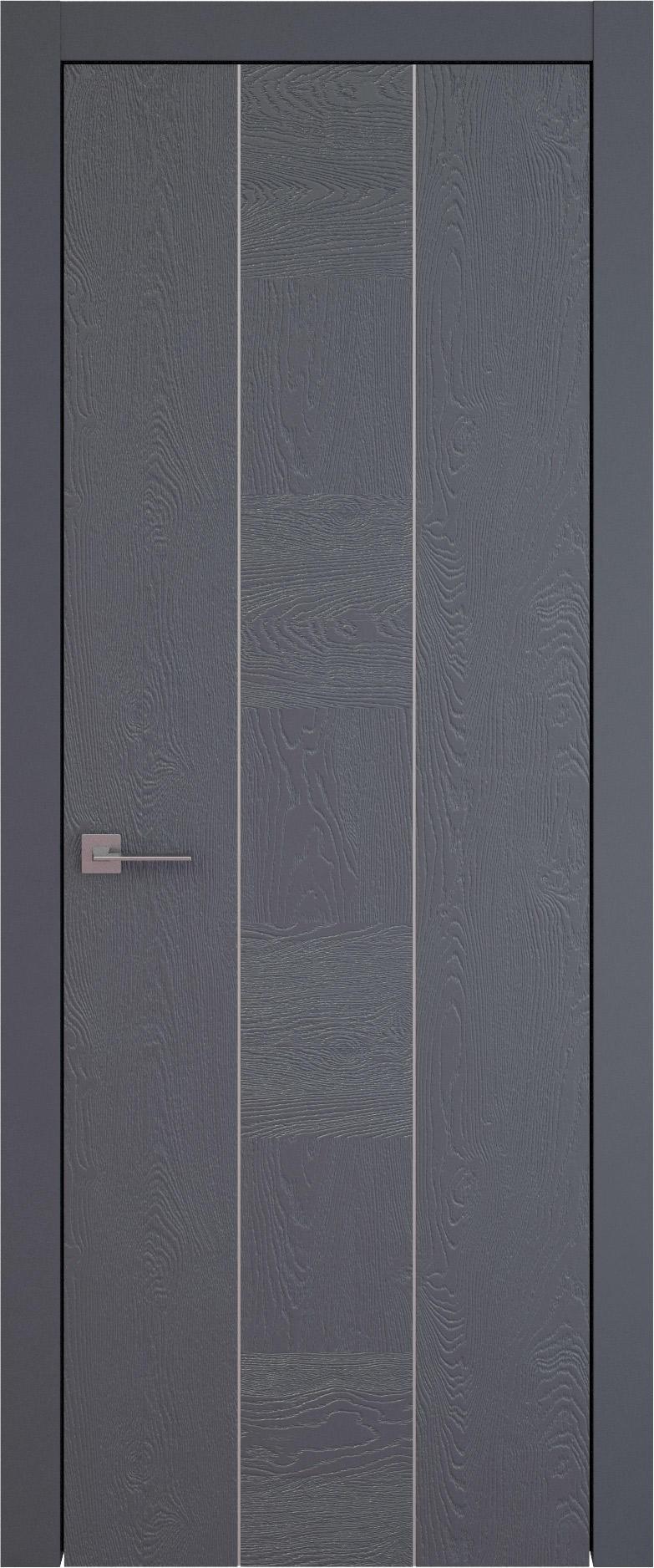 Tivoli Б-1 цвет - Графитово-серая эмаль по шпону (RAL 7024) Без стекла (ДГ)