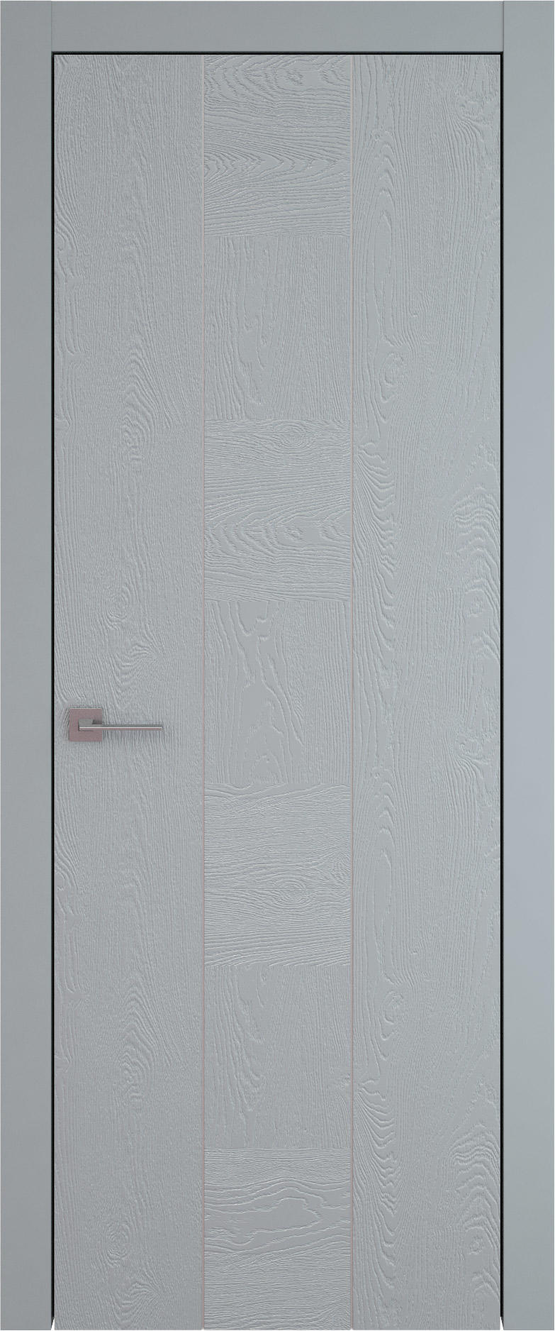 Tivoli Б-1 цвет - Серебристо-серая эмаль по шпону (RAL 7045) Без стекла (ДГ)