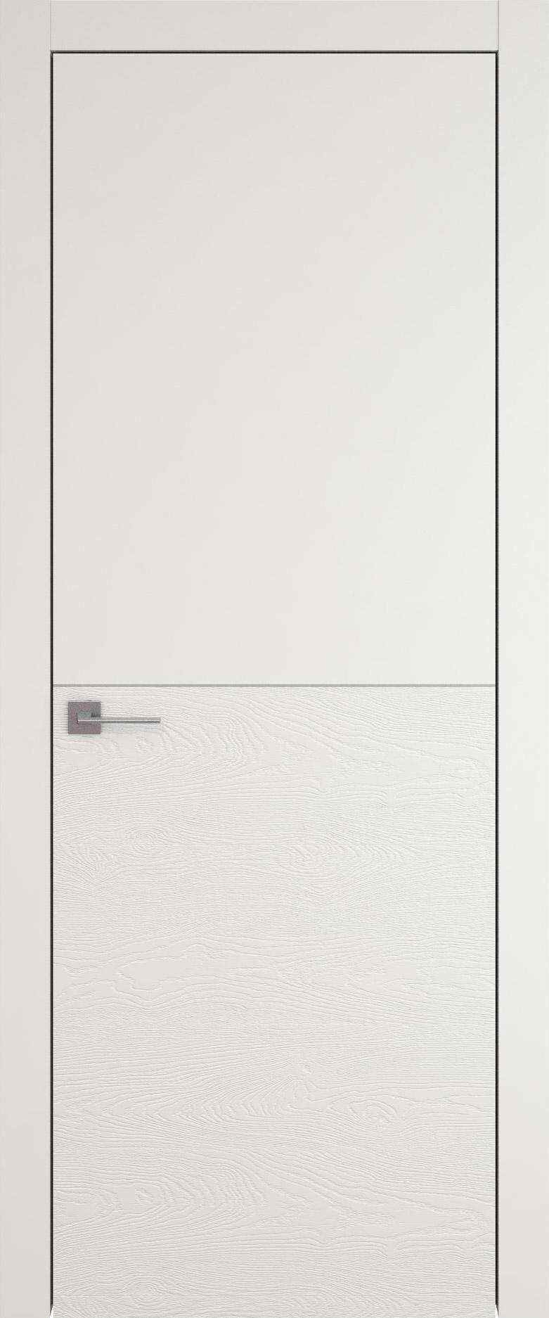Tivoli Б-2 цвет - Бежевая эмаль-эмаль по шпону (RAL 9010) Без стекла (ДГ)