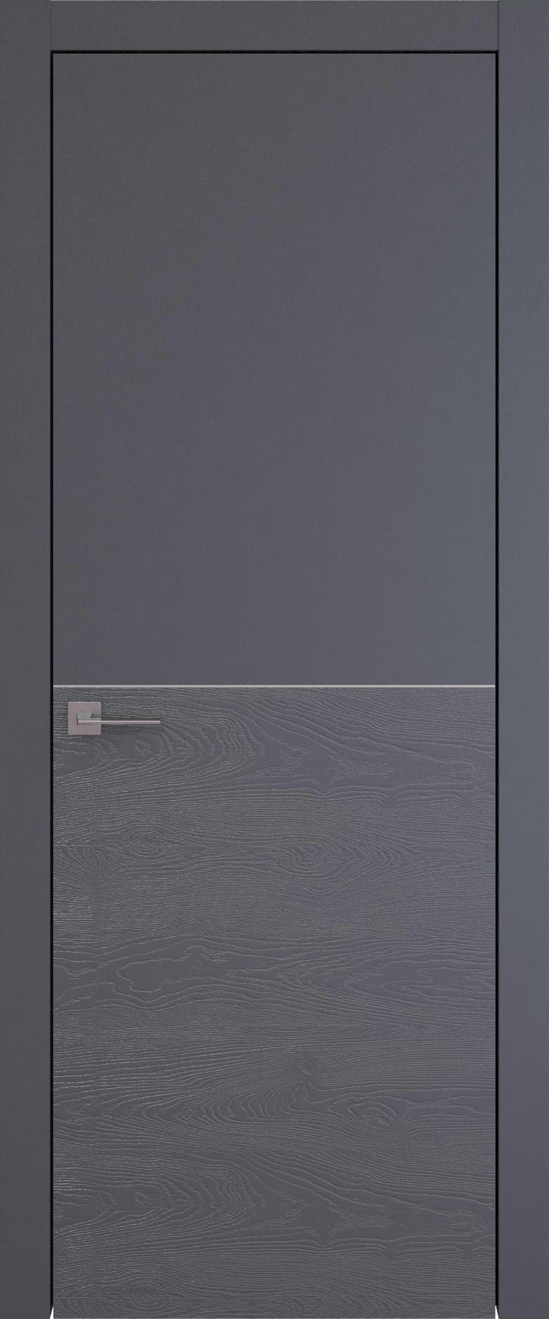 Tivoli Б-2 цвет - Графитово-серая эмаль-эмаль по шпону (RAL 7024) Без стекла (ДГ)