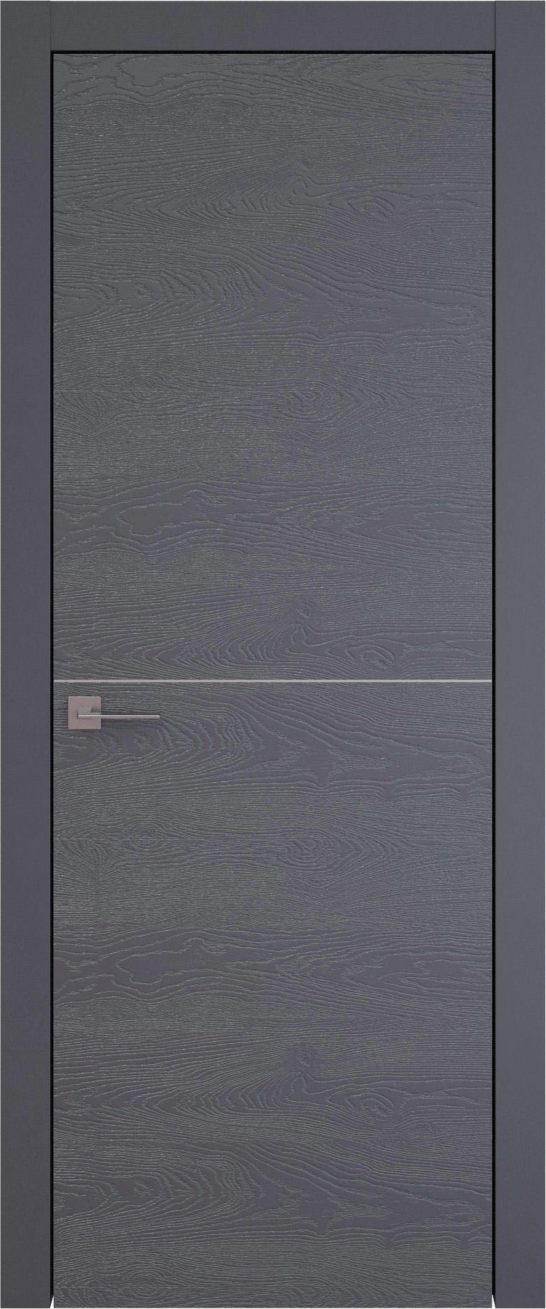 Tivoli Б-2 цвет - Графитово-серая эмаль по шпону (RAL 7024) Без стекла (ДГ)