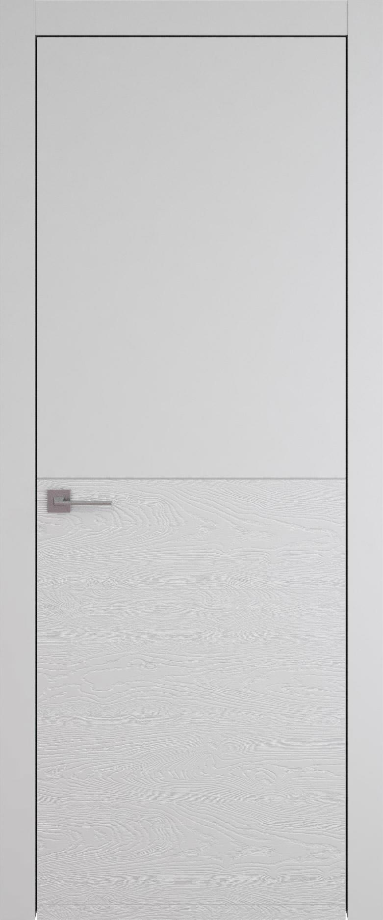 Tivoli Б-2 цвет - Серая эмаль-эмаль по шпону (RAL 7047) Без стекла (ДГ)