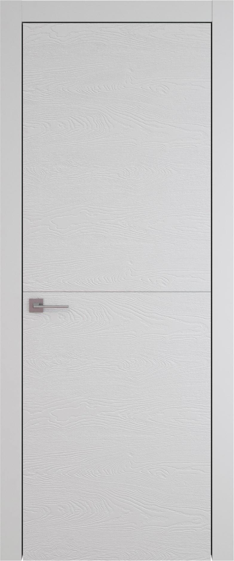 Tivoli Б-2 цвет - Серая эмаль по шпону (RAL 7047) Без стекла (ДГ)