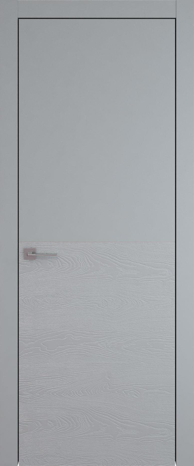 Tivoli Б-2 цвет - Серебристо-серая эмаль-эмаль по шпону (RAL 7045) Без стекла (ДГ)