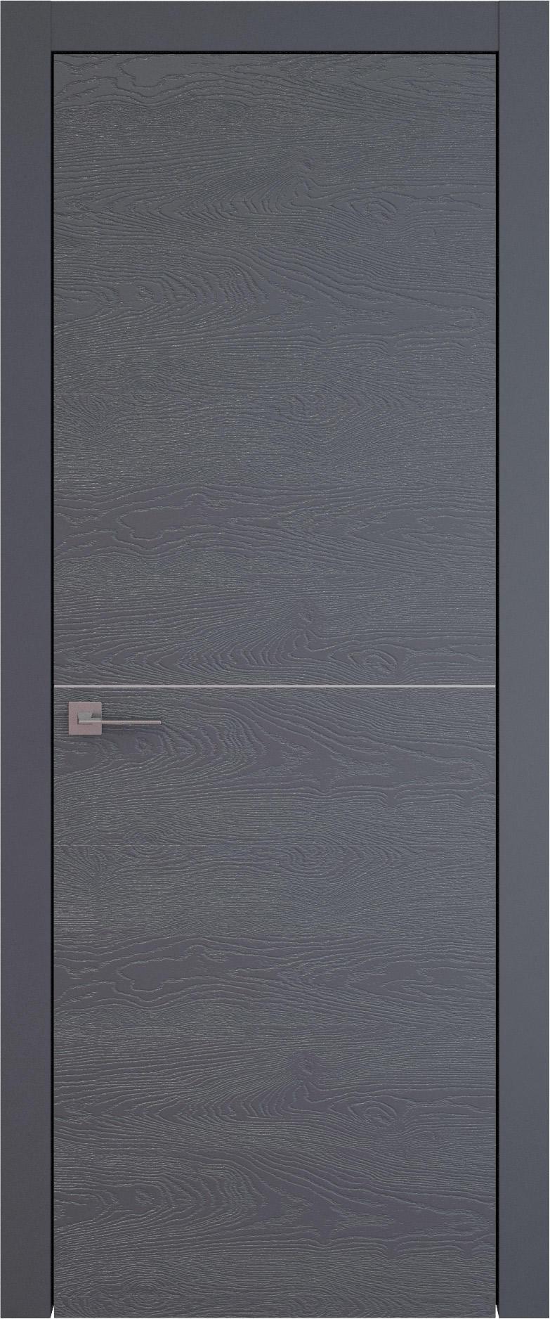 Tivoli Б-3 цвет - Графитово-серая эмаль по шпону (RAL 7024) Без стекла (ДГ)