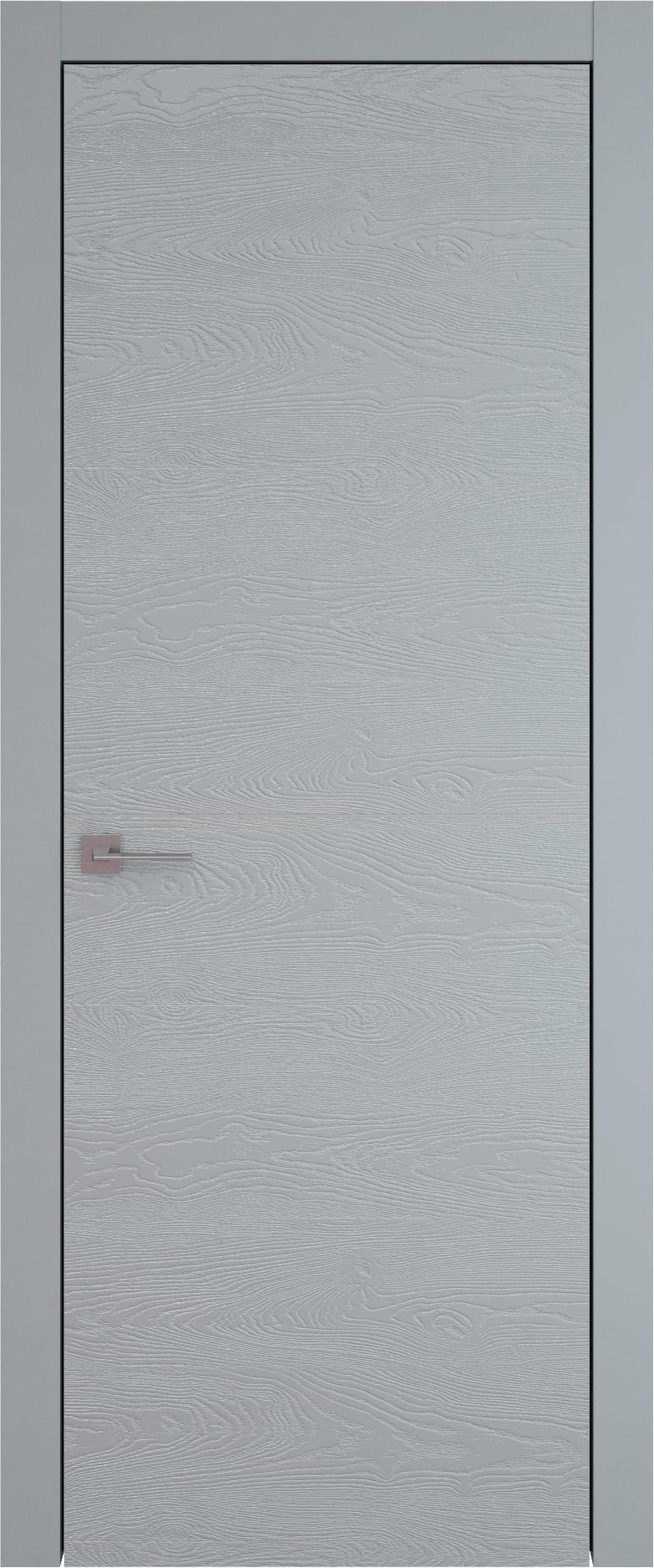 Tivoli Б-3 цвет - Серебристо-серая эмаль по шпону (RAL 7045) Без стекла (ДГ)