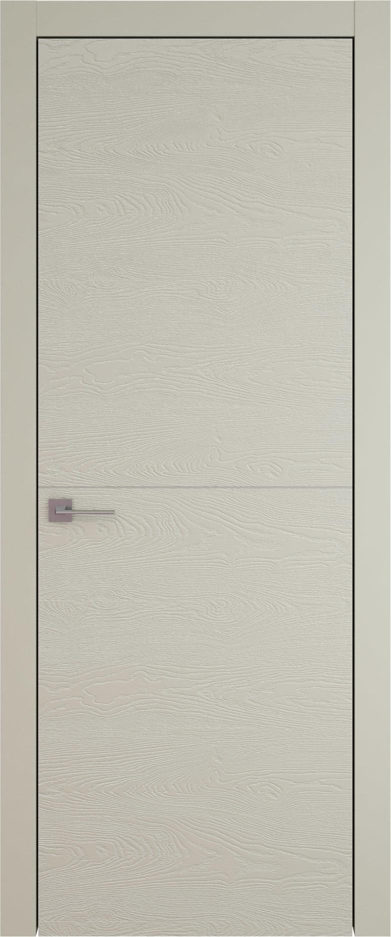 Tivoli Б-3 цвет - Серо-оливковая эмаль по шпону (RAL 7032) Без стекла (ДГ)