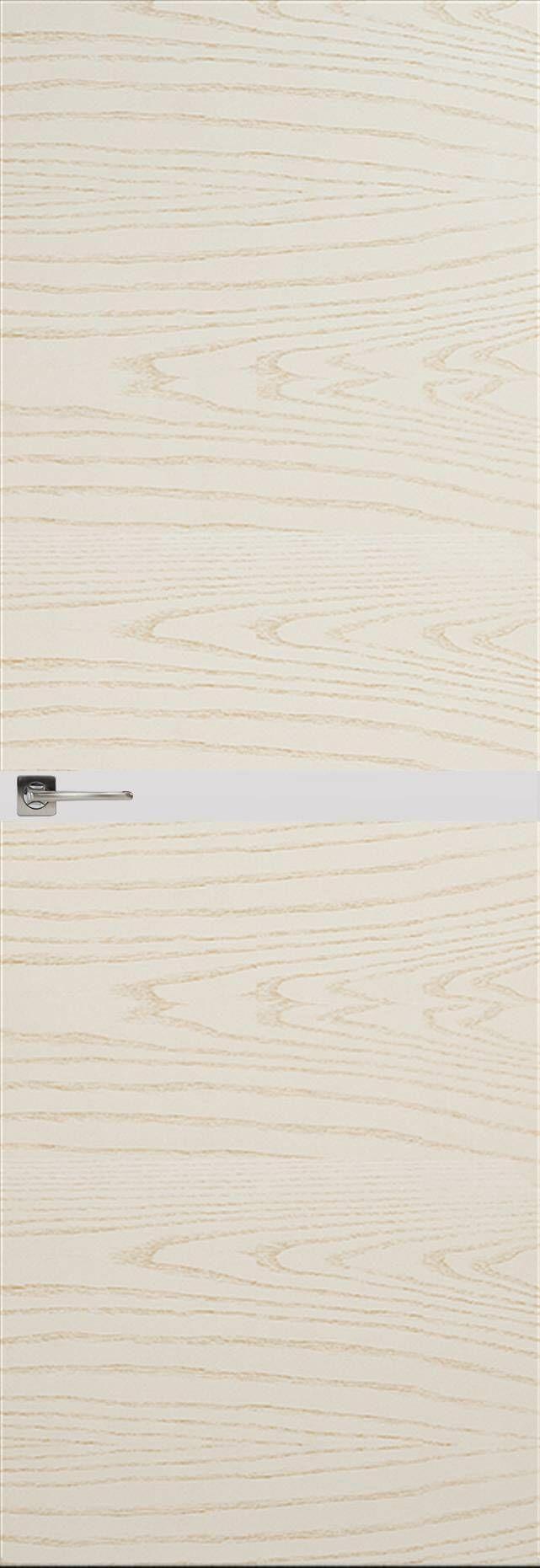 Tivoli Б-4 Невидимка цвет - Ясень бежевая эмаль Без стекла (ДГ)