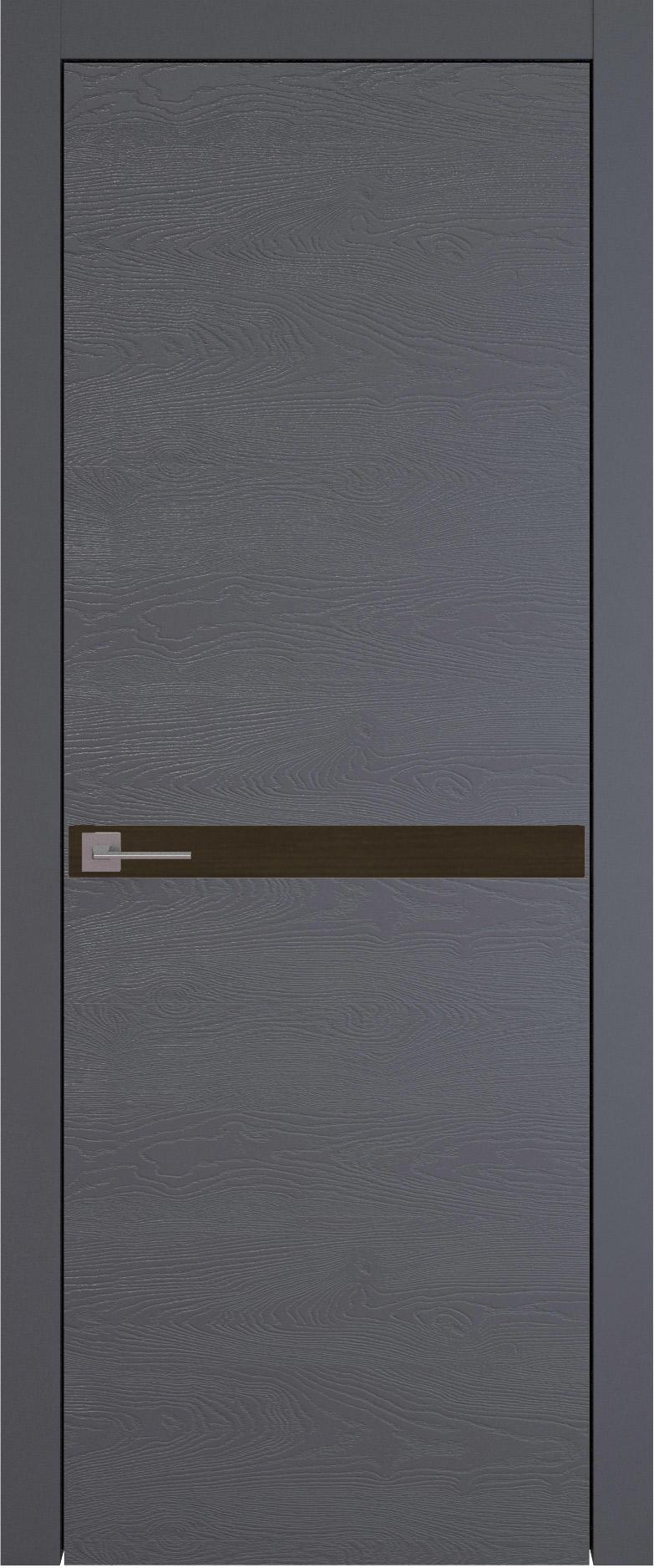 Tivoli Б-4 цвет - Графитово-серая эмаль по шпону (RAL 7024) Без стекла (ДГ)