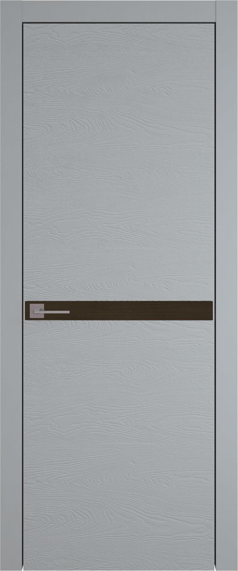 Tivoli Б-4 цвет - Серебристо-серая эмаль по шпону (RAL 7045) Без стекла (ДГ)