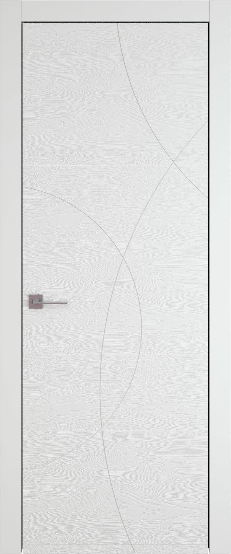 Tivoli Б-5 цвет - Белая эмаль по шпону (RAL 9003) Без стекла (ДГ)