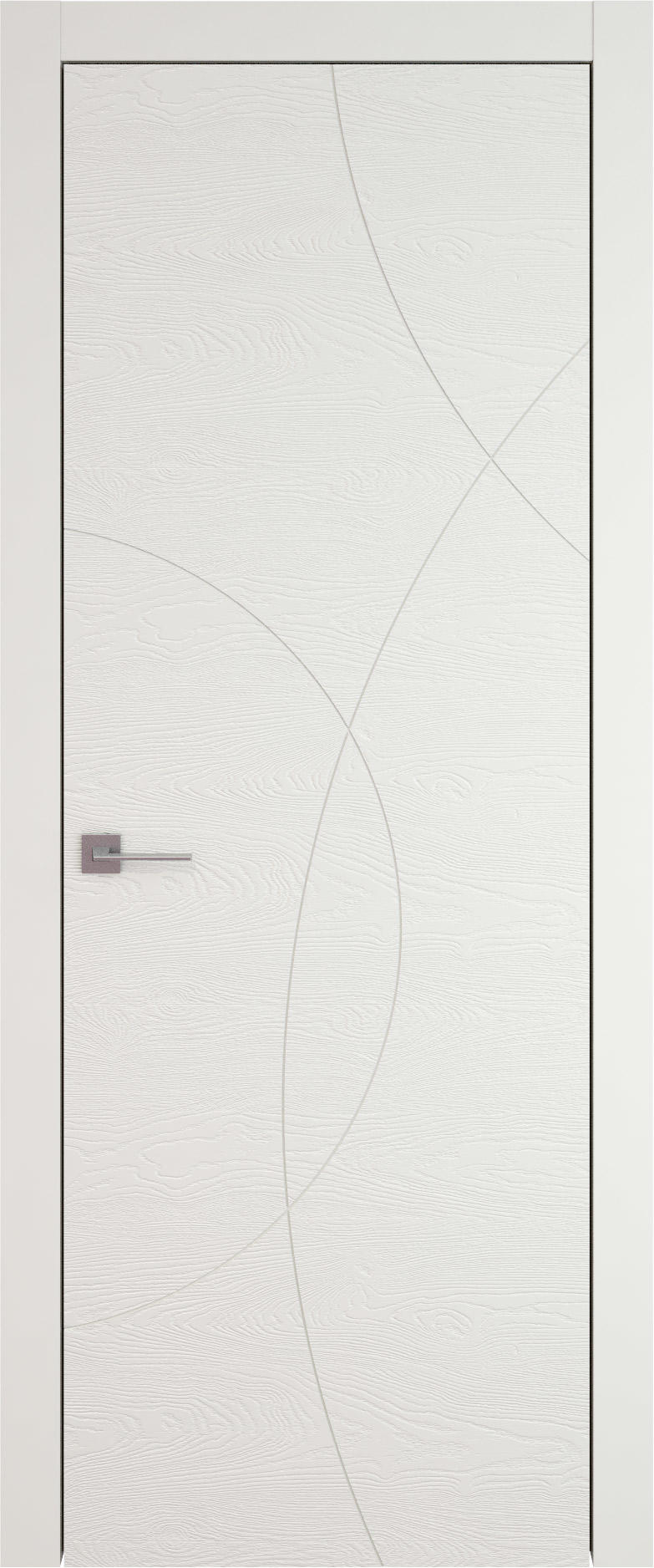 Tivoli Б-5 цвет - Бежевая эмаль по шпону (RAL 9010) Без стекла (ДГ)