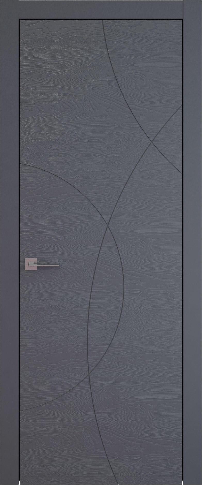 Tivoli Б-5 цвет - Графитово-серая эмаль по шпону (RAL 7024) Без стекла (ДГ)