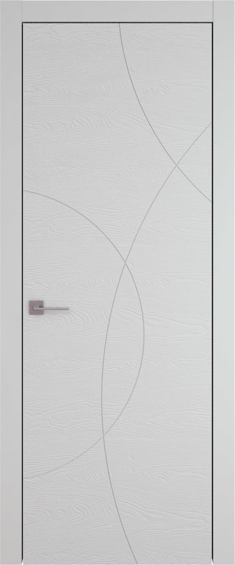 Tivoli Б-5 цвет - Серая эмаль по шпону (RAL 7047) Без стекла (ДГ)