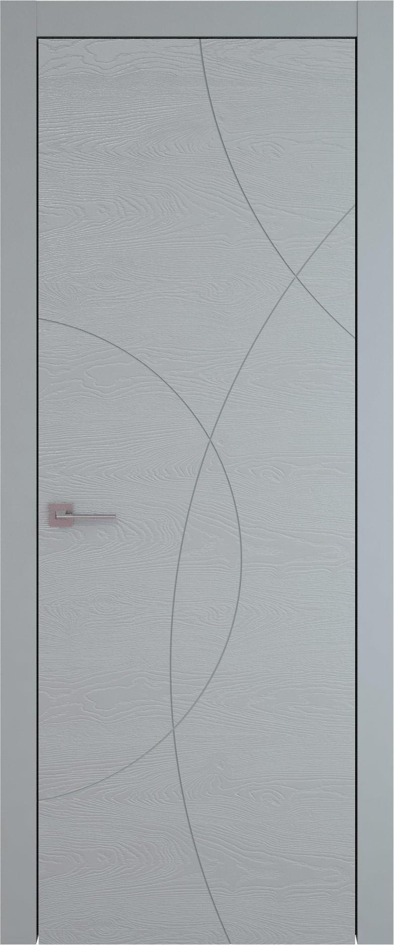 Tivoli Б-5 цвет - Серебристо-серая эмаль по шпону (RAL 7045) Без стекла (ДГ)