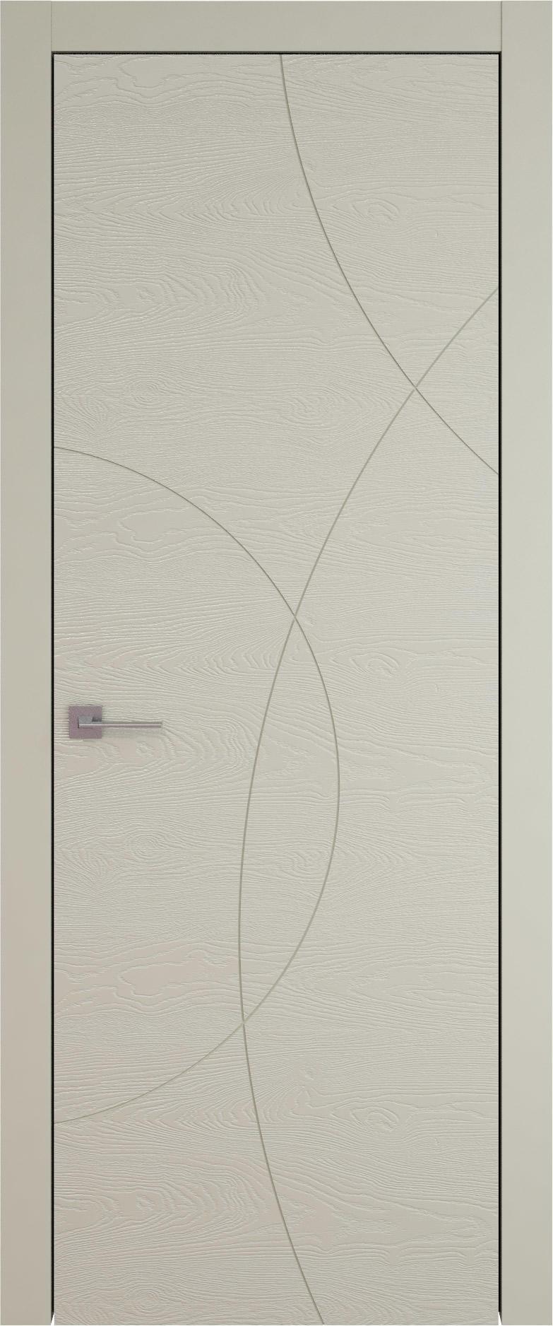 Tivoli Б-5 цвет - Серо-оливковая эмаль по шпону (RAL 7032) Без стекла (ДГ)