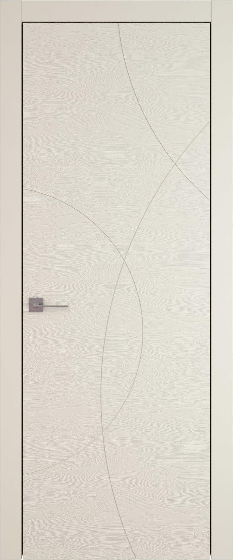 Tivoli Б-5 цвет - Жемчужная эмаль по шпону (RAL 1013) Без стекла (ДГ)
