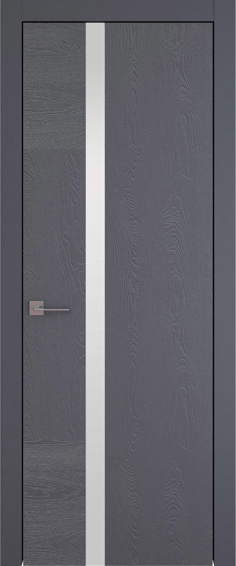 Tivoli Д-1 цвет - Графитово-серая эмаль по шпону (RAL 7024) Без стекла (ДГ)