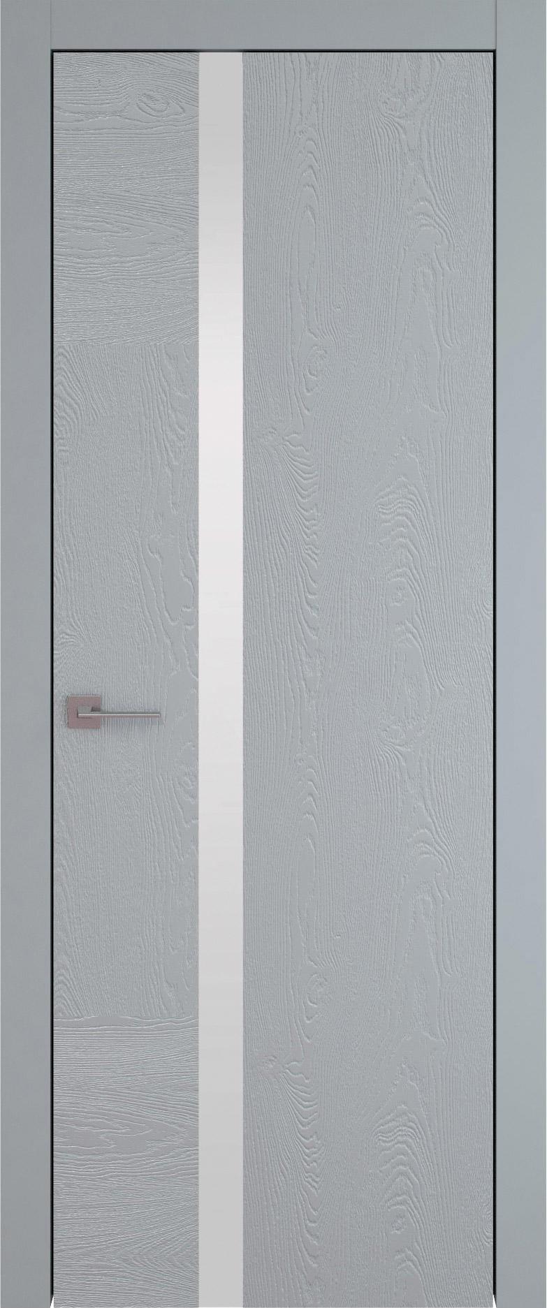 Tivoli Д-1 цвет - Серебристо-серая эмаль по шпону (RAL 7045) Без стекла (ДГ)