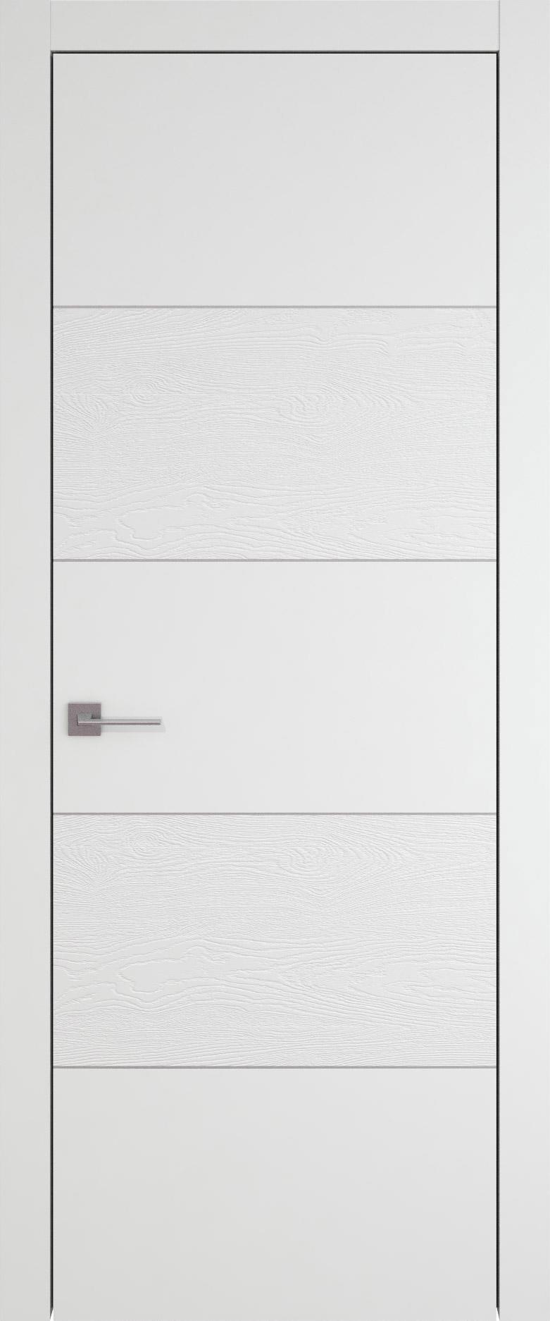 Tivoli Д-2 цвет - Белая эмаль-эмаль по шпону (RAL 9003) Без стекла (ДГ)