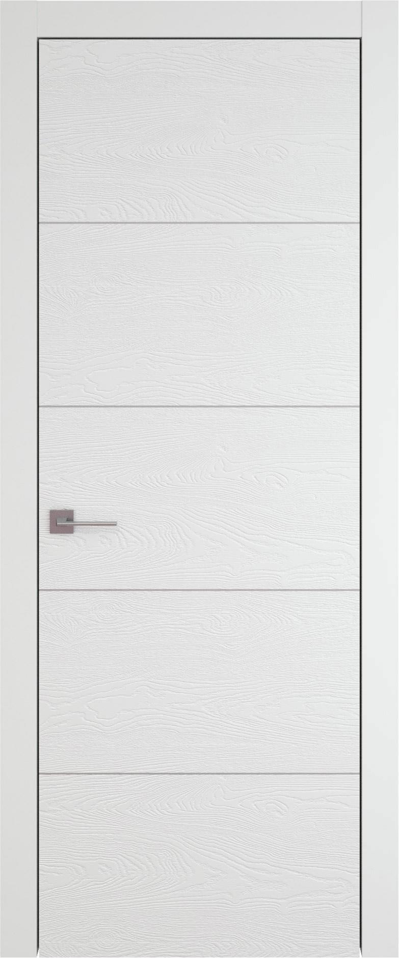 Tivoli Д-2 цвет - Белая эмаль по шпону (RAL 9003) Без стекла (ДГ)