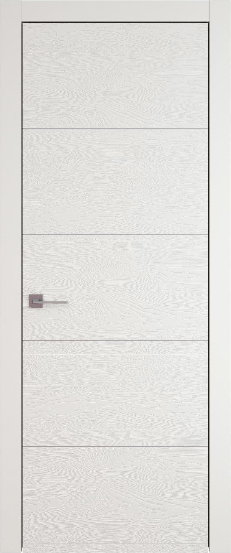Tivoli Д-2 цвет - Бежевая эмаль по шпону (RAL 9010) Без стекла (ДГ)