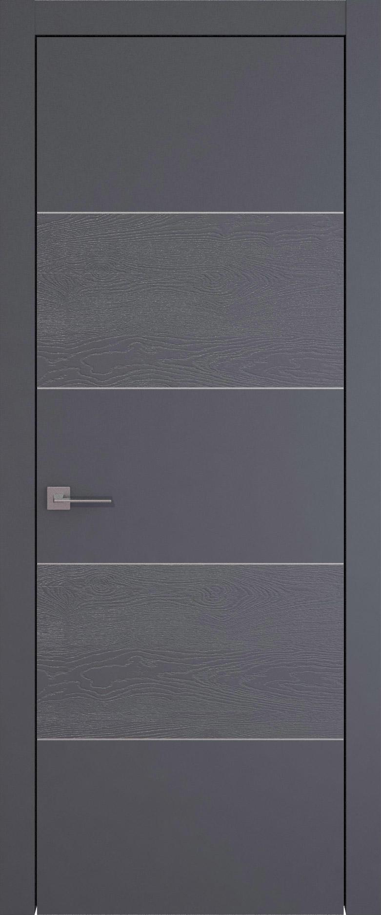 Tivoli Д-2 цвет - Графитово-серая эмаль-эмаль по шпону (RAL 7024) Без стекла (ДГ)