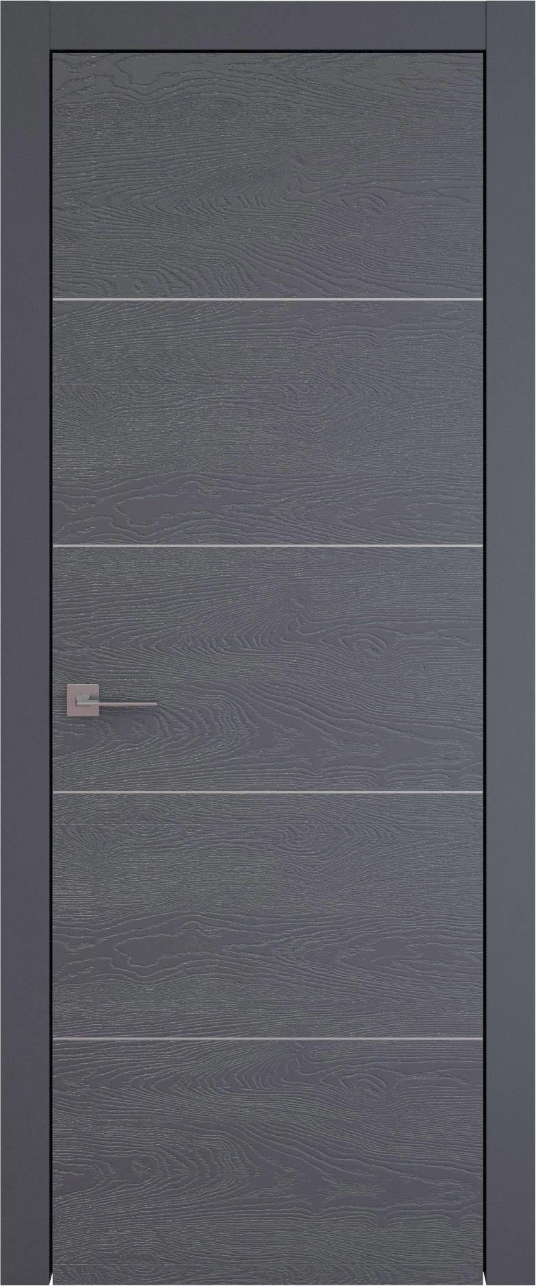 Tivoli Д-2 цвет - Графитово-серая эмаль по шпону (RAL 7024) Без стекла (ДГ)