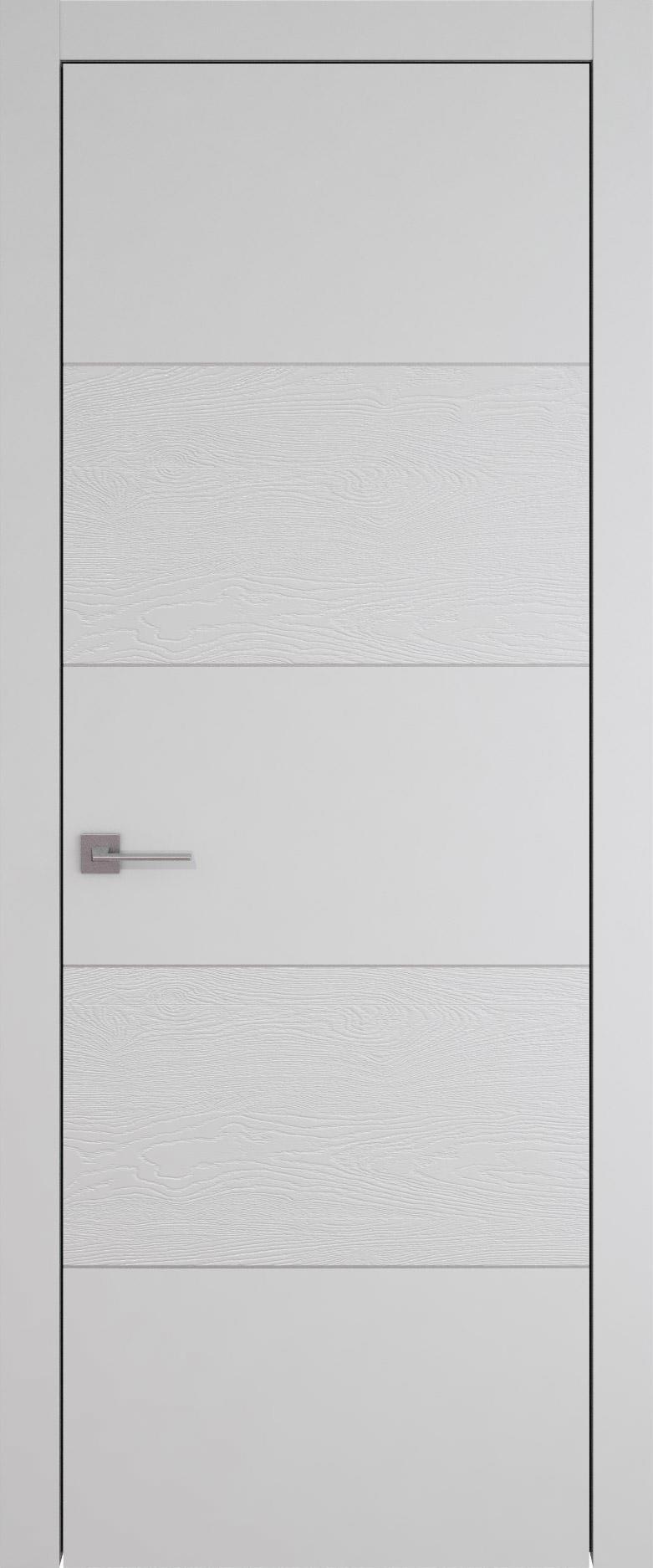 Tivoli Д-2 цвет - Серая эмаль-эмаль по шпону (RAL 7047) Без стекла (ДГ)