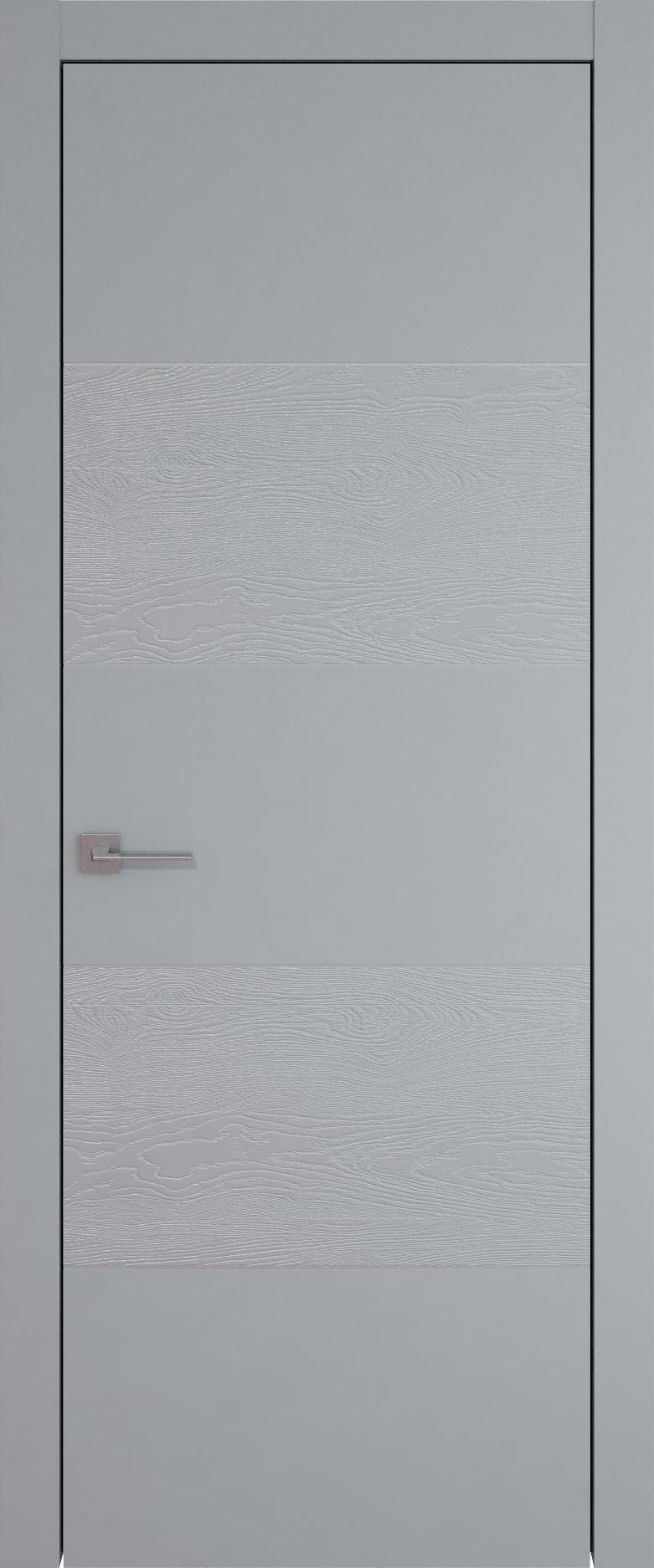 Tivoli Д-2 цвет - Серебристо-серая эмаль-эмаль по шпону (RAL 7045) Без стекла (ДГ)