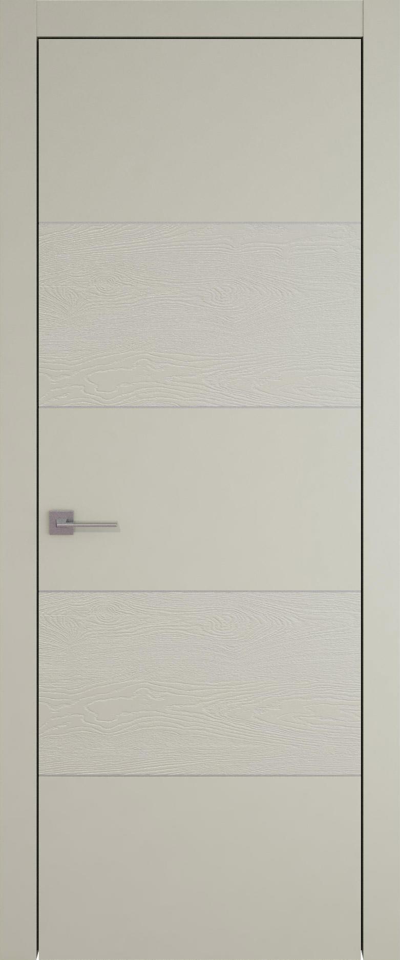 Tivoli Д-2 цвет - Серо-оливковая эмаль-эмаль по шпону (RAL 7032) Без стекла (ДГ)