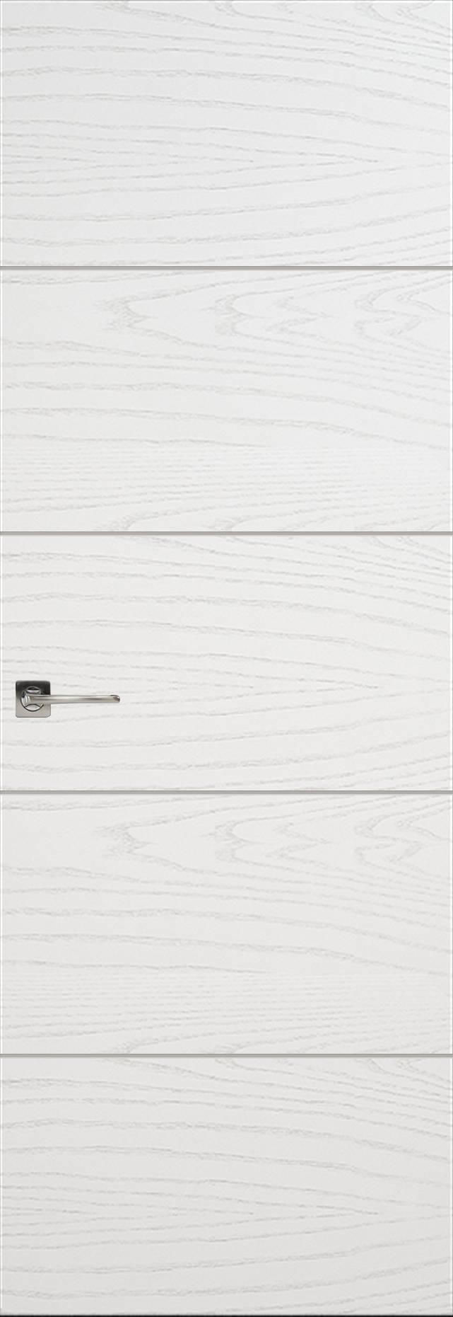 Tivoli Д-2 Invisible цвет - Ясень белая эмаль Без стекла (ДГ)