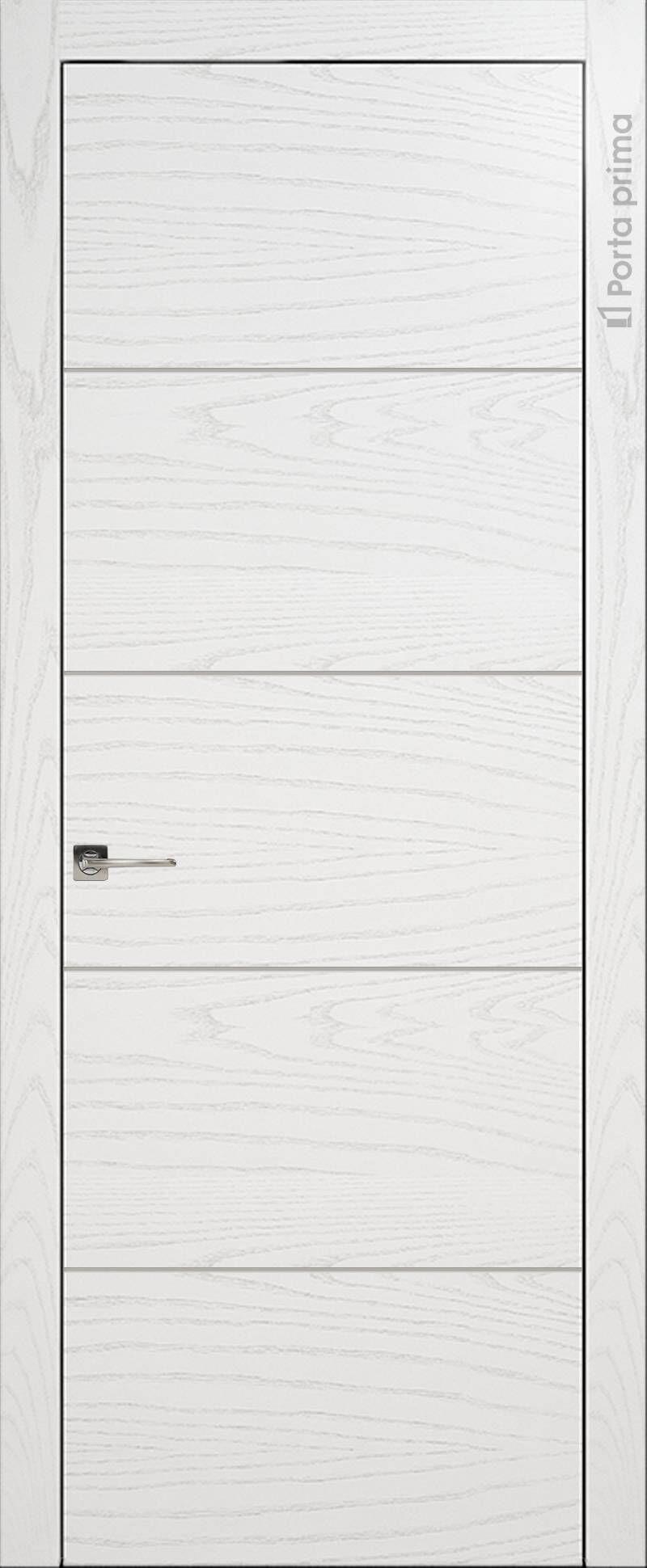Tivoli Д-2 цвет - Белый ясень (шпон) Без стекла (ДГ)