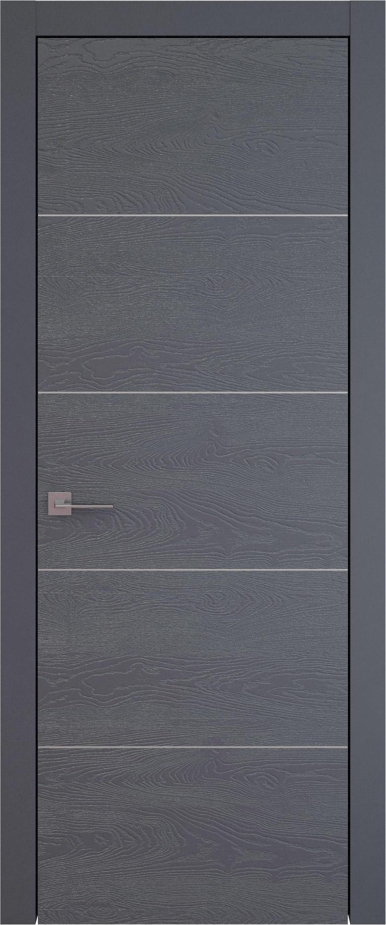 Tivoli Д-3 цвет - Графитово-серая эмаль по шпону (RAL 7024) Без стекла (ДГ)