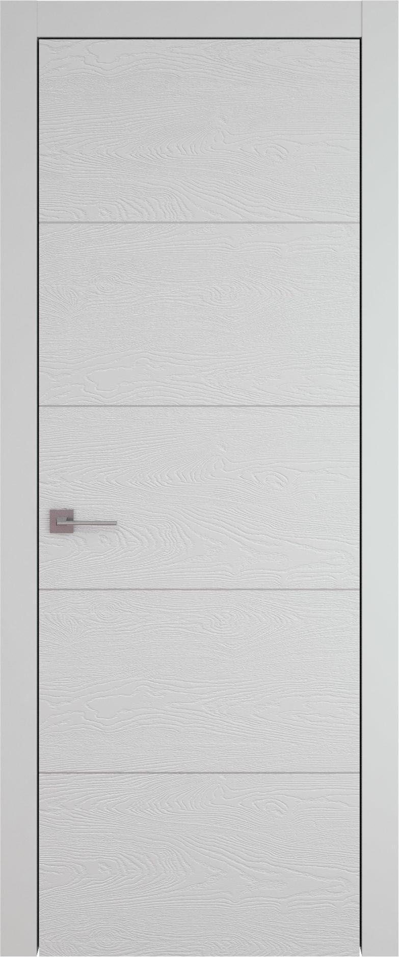 Tivoli Д-3 цвет - Серая эмаль по шпону (RAL 7047) Без стекла (ДГ)