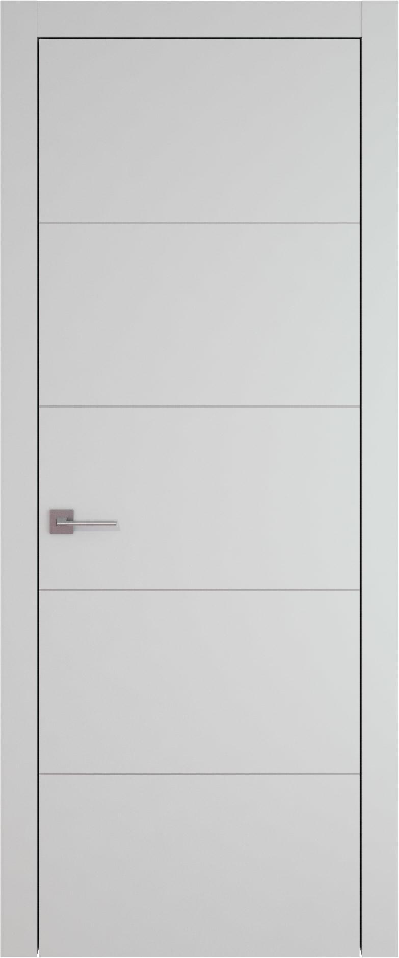 Tivoli Д-3 цвет - Серая эмаль (RAL 7047) Без стекла (ДГ)