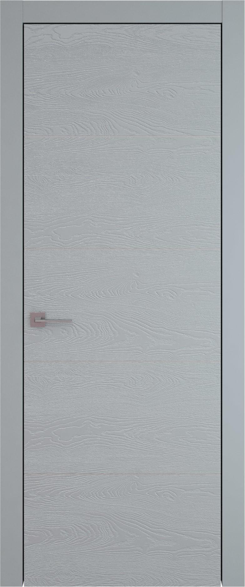 Tivoli Д-3 цвет - Серебристо-серая эмаль по шпону (RAL 7045) Без стекла (ДГ)