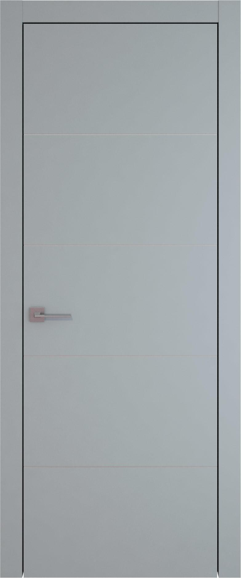 Tivoli Д-3 цвет - Серебристо-серая эмаль (RAL 7045) Без стекла (ДГ)